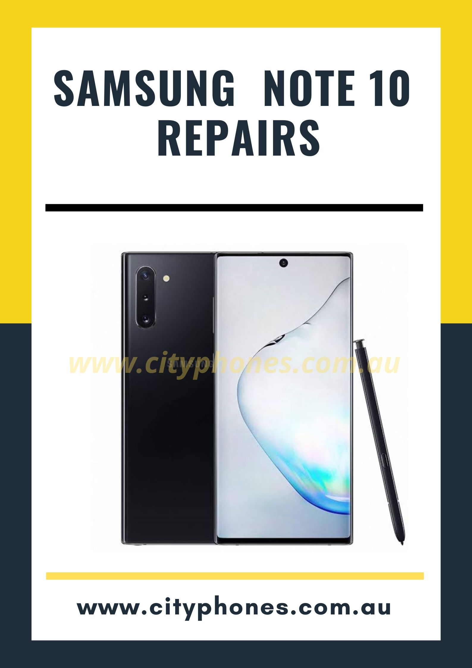 samsung note 10 screen repair
