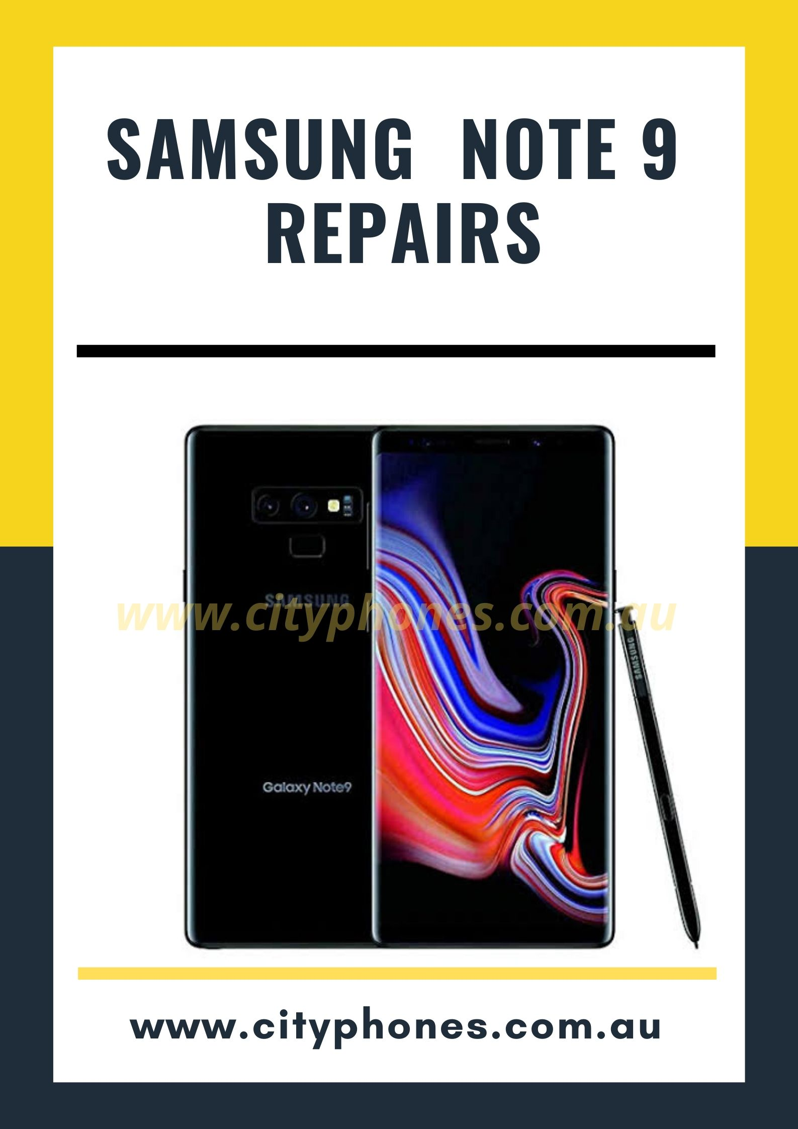 samsung note 9 screen repair