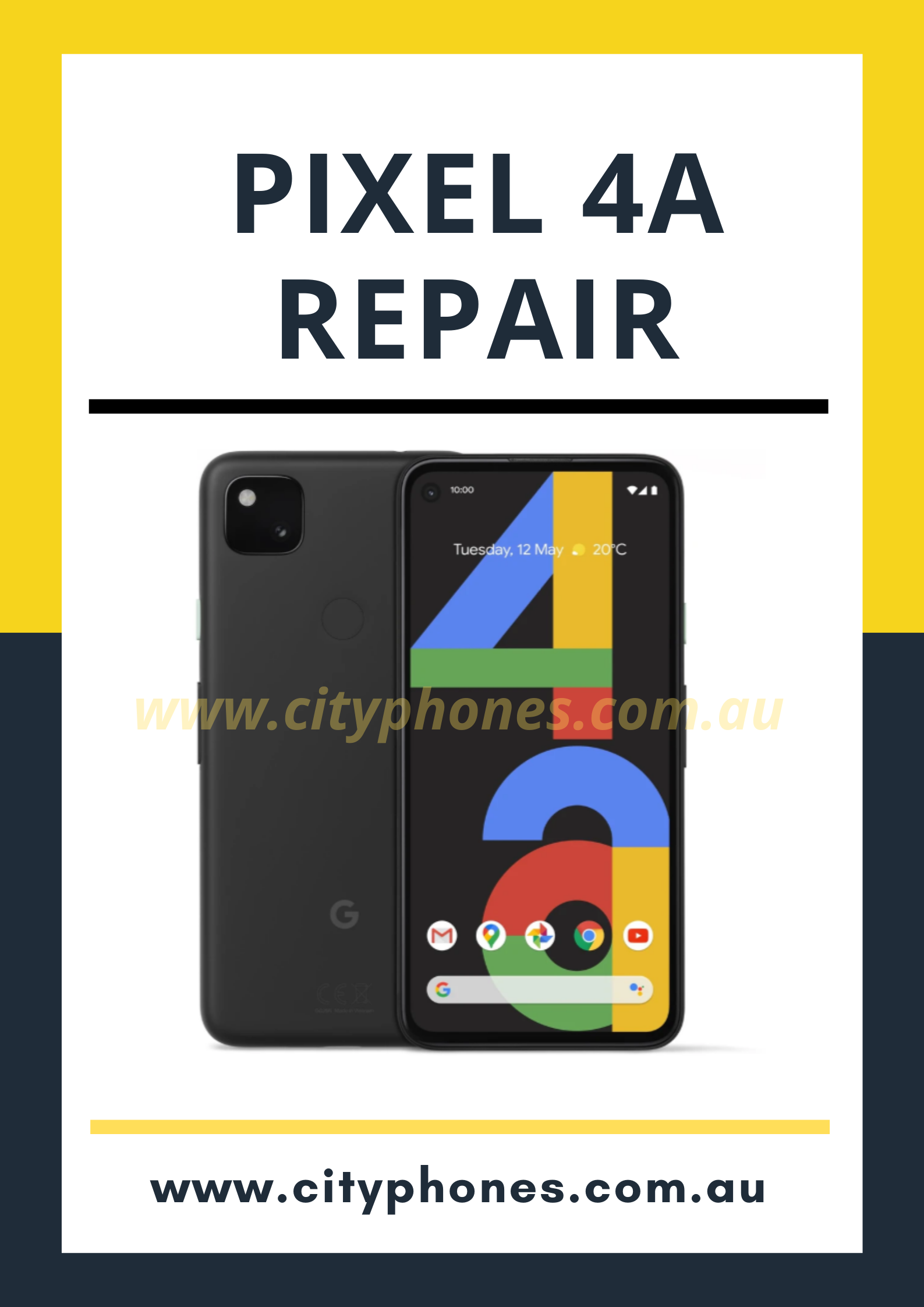 google pixel 4a screen repair